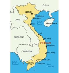 Socialist republic of vietnam - map vector
