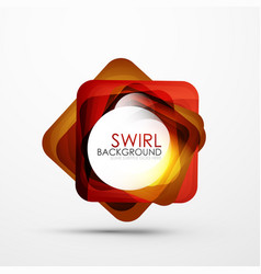 Square swirl abstract banner vector