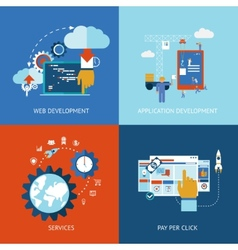 Web and application development vector