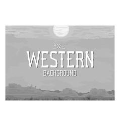 Western landscape vector
