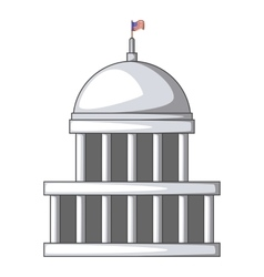 White house icon cartoon style vector image