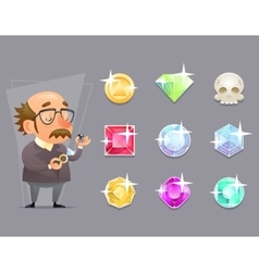 Jeweler Valuer Appraiser Quality Check Process vector image