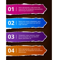 Paper number options banners vector