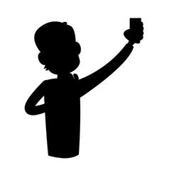 man using phone icon image vector image