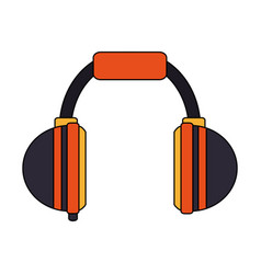 Color image cartoon headphones for music vector