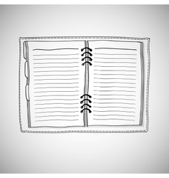Sketch of notebook vector image