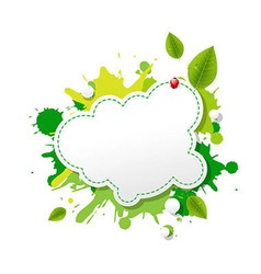 Green eco speech bubble vector