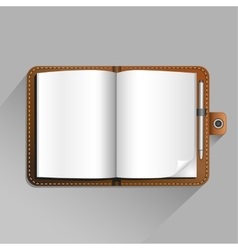 Brown notebook vector