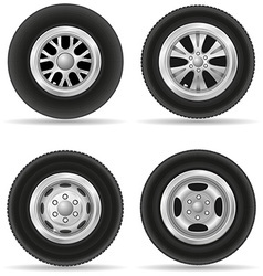 set wheels for car vector image