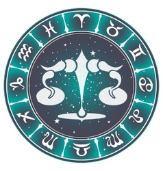 Libra zodiac sign vector