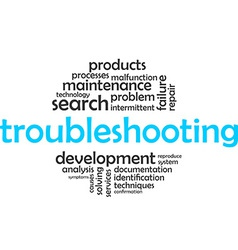 Word cloud troubleshooting vector
