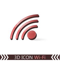 3d icon wi-fi vector image vector image