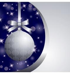 xmas silver ball vector image