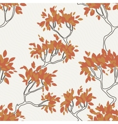 Seamless pattern of tree branches with vector