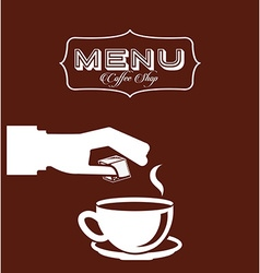 Menu good coffee vector