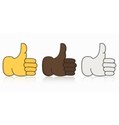 Modern thumbs up icon set on white vector