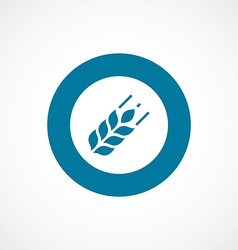 Agriculture bold blue border circle icon vector