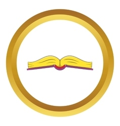 Book is open in the middle icon vector