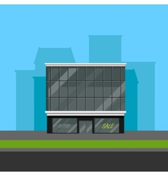 Business center or shopping mall in flat polygonal vector