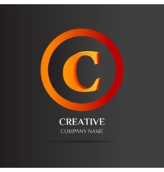 C letter logo abstract design vector
