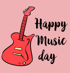 Card for world music day art vector
