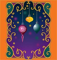 Christmas window magic vector image vector image