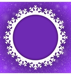 Circle violet background new year snow snowflake vector