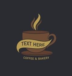 coffee cup label concept menu vector image vector image