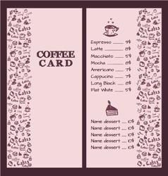 Coffee menu hand 2 vector