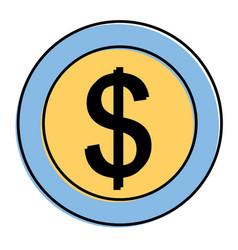 dollar money currency cash icon vector image