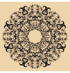 Floral design mandala vector image vector image
