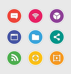 Icons in material design style sign and symbols vector image vector image