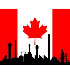 Industry and flag of Canada vector image vector image