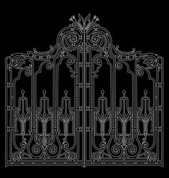 iron ornamental gate vector image vector image