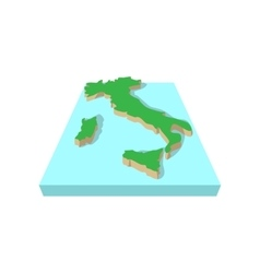 Map of italy cartoon style vector image vector image
