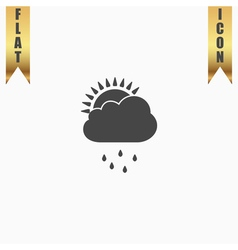 Rainy season flat icon vector image