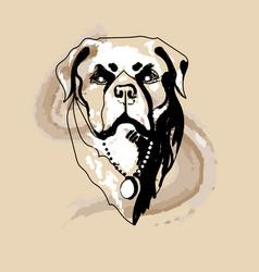 Rottweiler dog logo vector