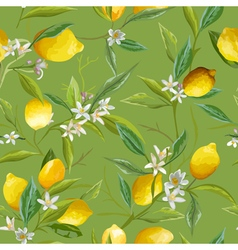 Seamless Pattern Lemon Fruits Background vector image vector image