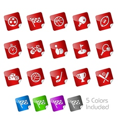 Sport Stickers vector image vector image