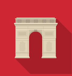 Triumphal arch icon in flat style isolated on vector