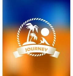 Tropical summer vacation icon vector image