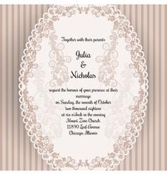 Wedding card with oval elegan design vector image vector image