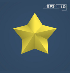 yellow star icon vector image