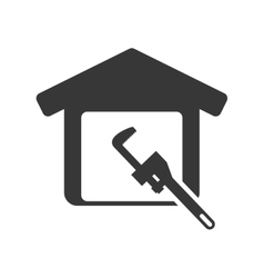Tool house repair design vector