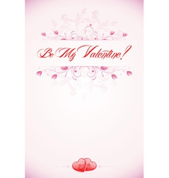 Valentines day calligraphic headline vector