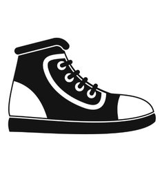 Athletic shoe icon simple style vector image
