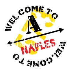 Naples stamp rubber grunge vector