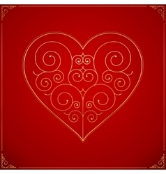Valentines day heart ornate love symbol vector