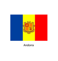 Flag of andorra vector