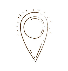 Monochrome hand drawn silhouette of map pointer vector